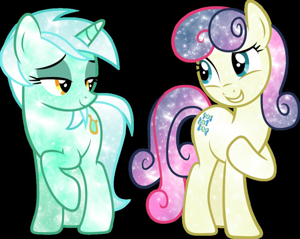 galaxy bon bon and lyra my little pony my little pony lyra MLP Applejack S Mom and Dad galaxy bon bon and lyra lyra heartstrings mlp my little pony fanart