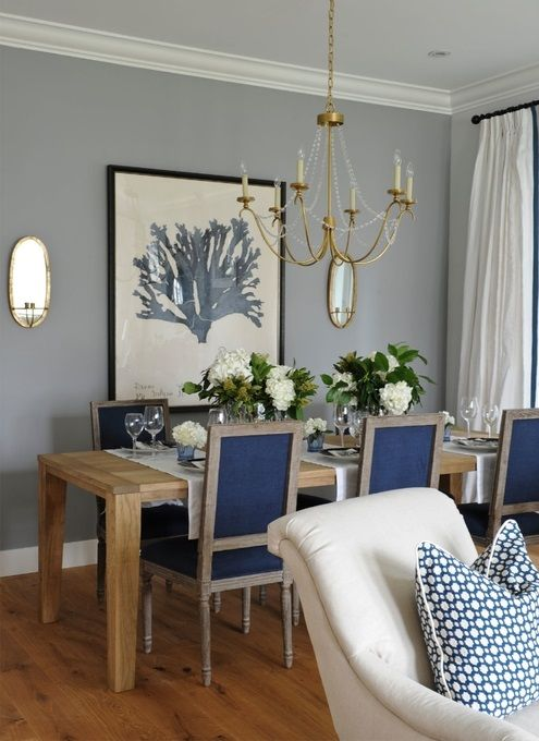 24++ White and blue dining set Trend