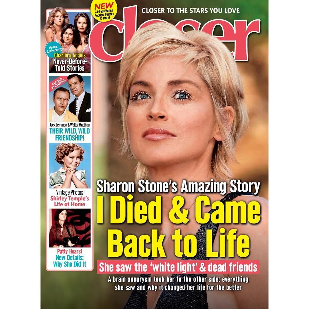 There and Back Again Sharon Stone Claims to Have Died