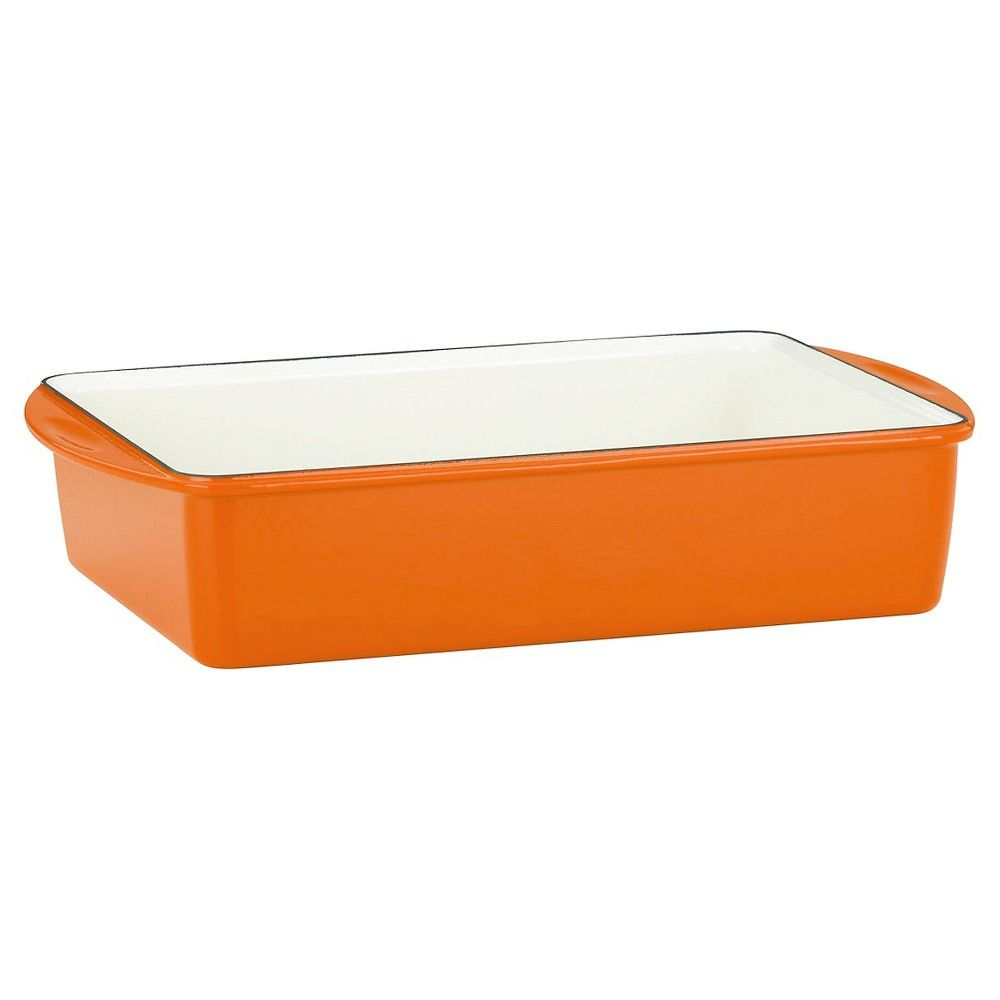 "Mario Batali Classic Deep Lasagna/Roaster - Persimmon (13x9""x3""), Persimmon Orange"