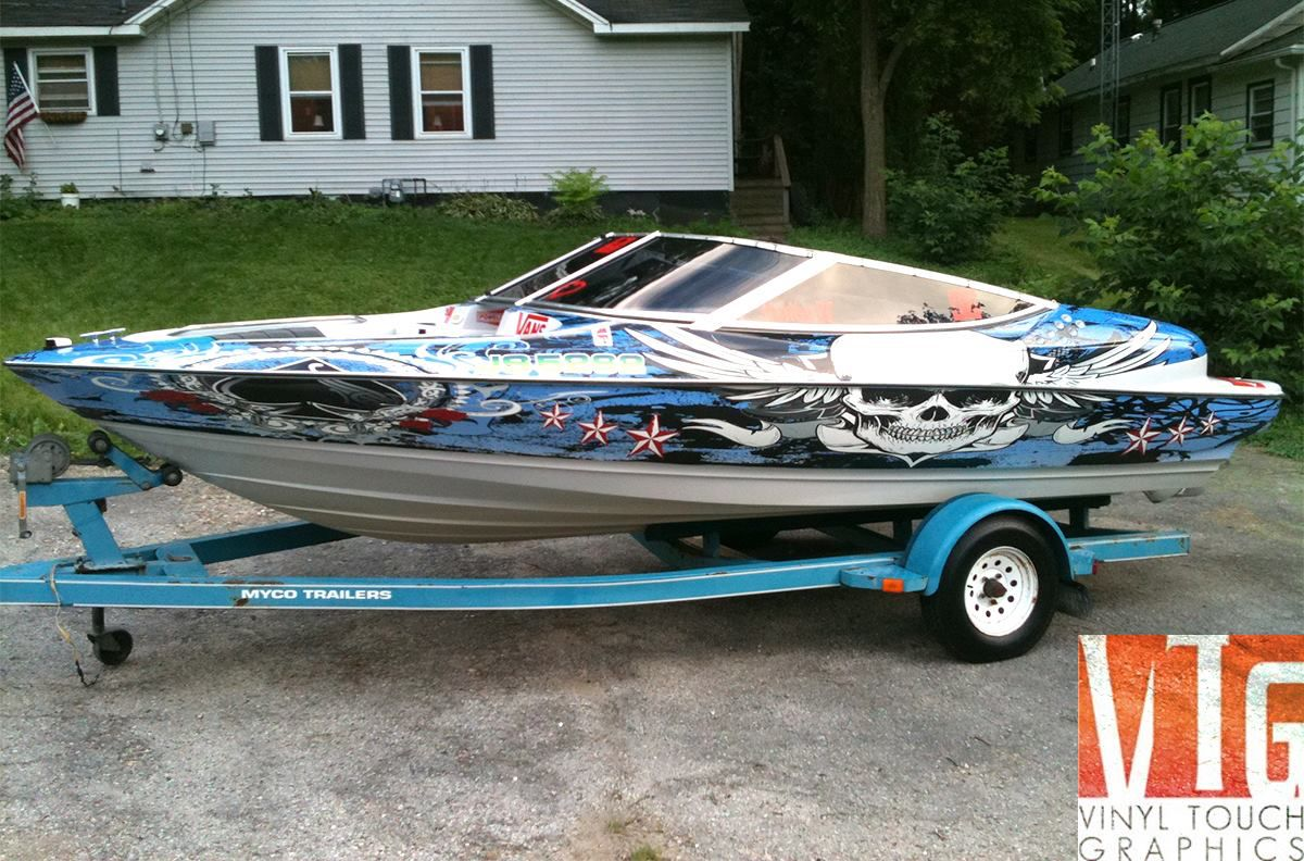 Cool Custom Printed Boat Wrap From Vinyl Touch Graphics Http - Custom vinyl decals for rc boats