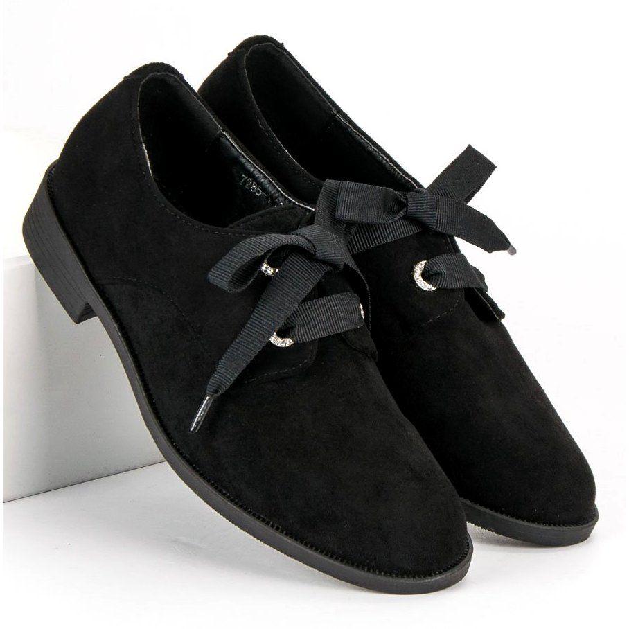 ac3b8857da570a Czarne Wiązane Półbuty VICES | Półbuty damskie | Shoes, Oxford shoes ...
