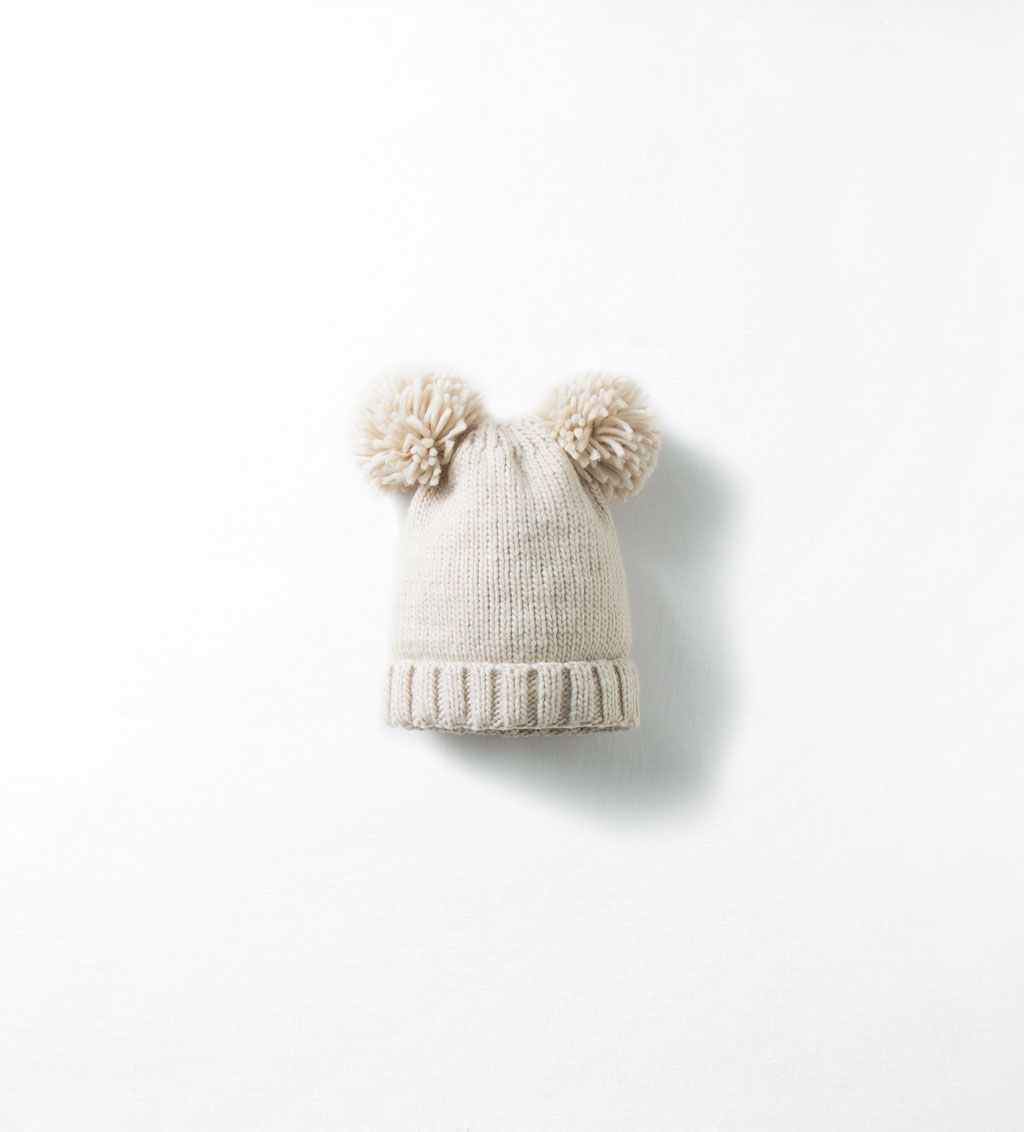 27a9f2d8 Image 1 of POM-POM EARS HAT from Zara   Gigi Clothes   Ear hats ...