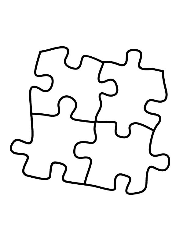 Puzzle Pieces Coloring Pages With Images Autism Puzzle Piece
