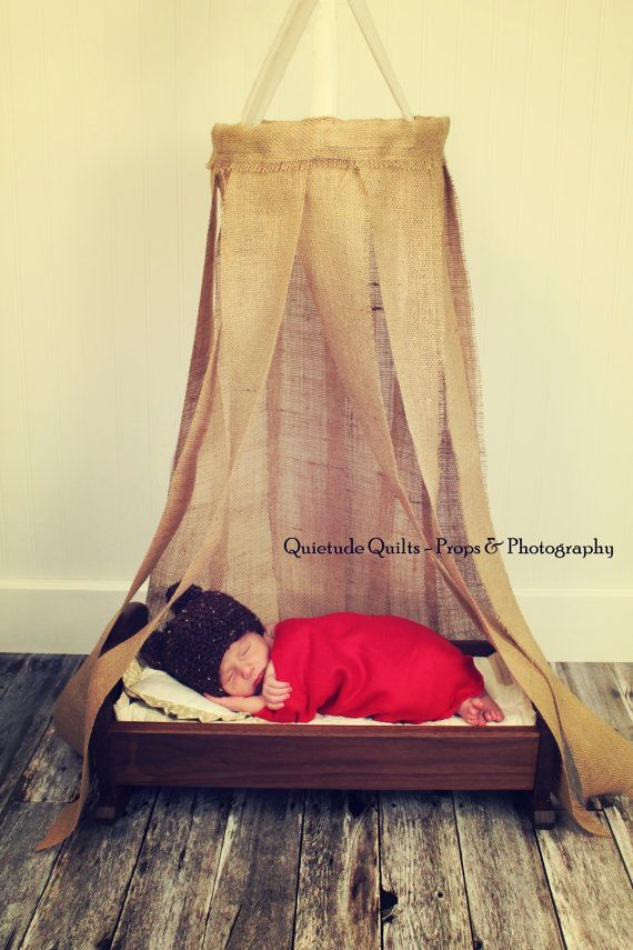 Baby Boy Canopy Burlap Canopy Hanging Fabric by QuietudeQuilts ...