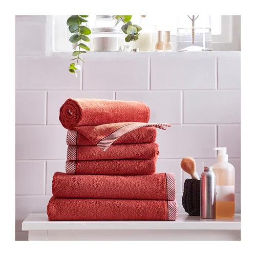 Vikfjard Bath Towel Red 28x55 In 2020 Bath Towels Towel