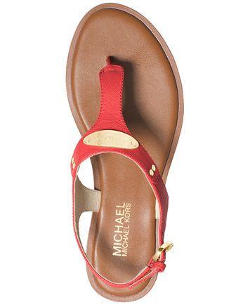 3b79a943aa2 MK Plate Flat Thong Sandals | Muebles | Sandals, Mk sandals y ...