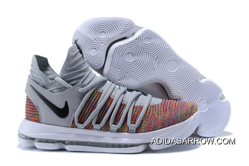 autentico Nike KD 10 Multi Color grigio Nero Cool grigio Color bianca in 2018   aba285