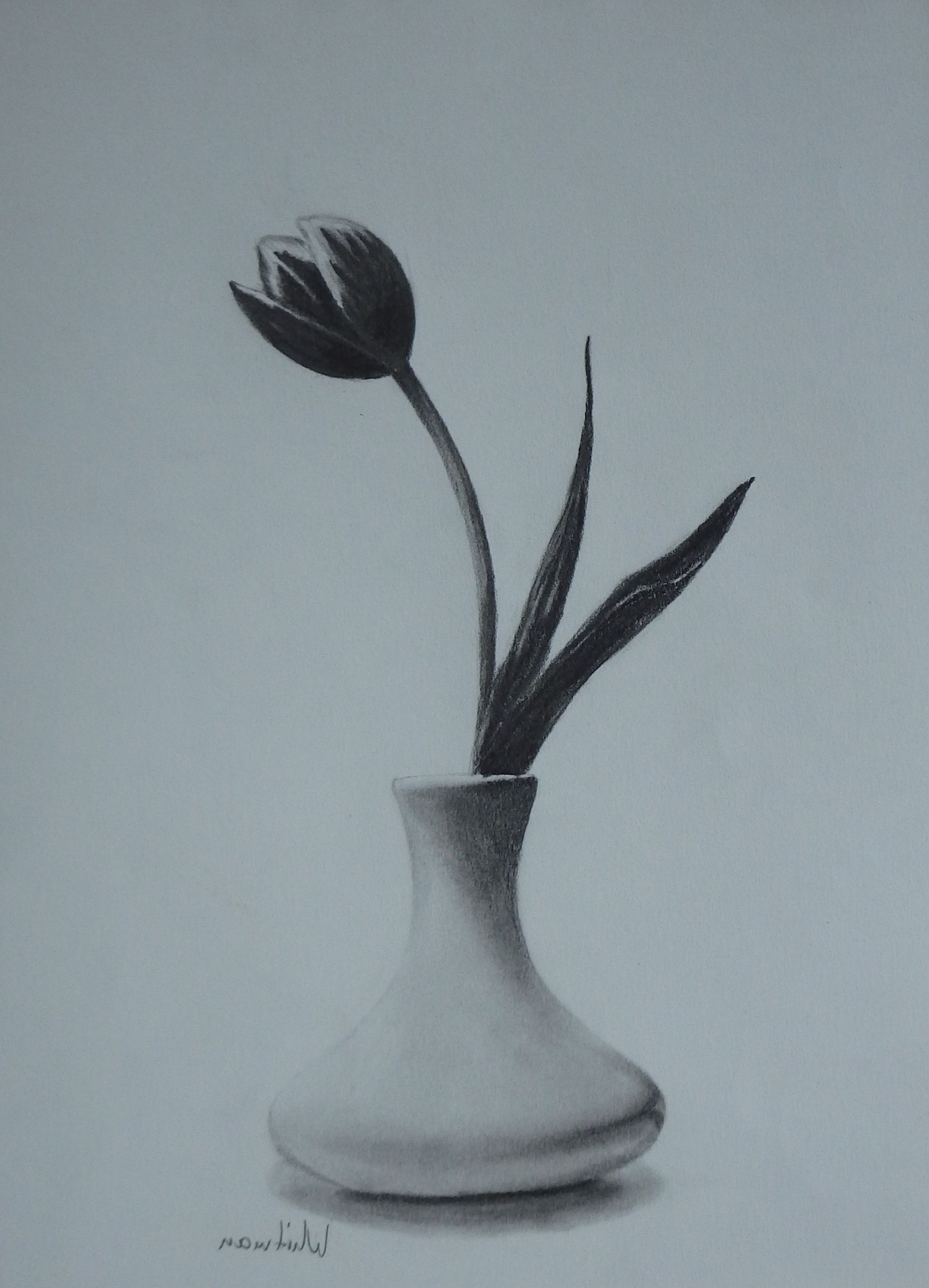 Flower Vase Pencil Sketch Class Pencil Drawings Of Flowers Flower Sketch Pencil Flower Sketches
