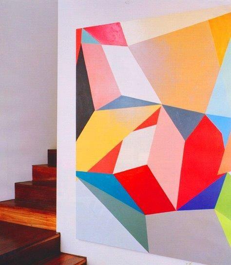 Gemma Smith painting - Louise Olsen - Stephen Ormandy home