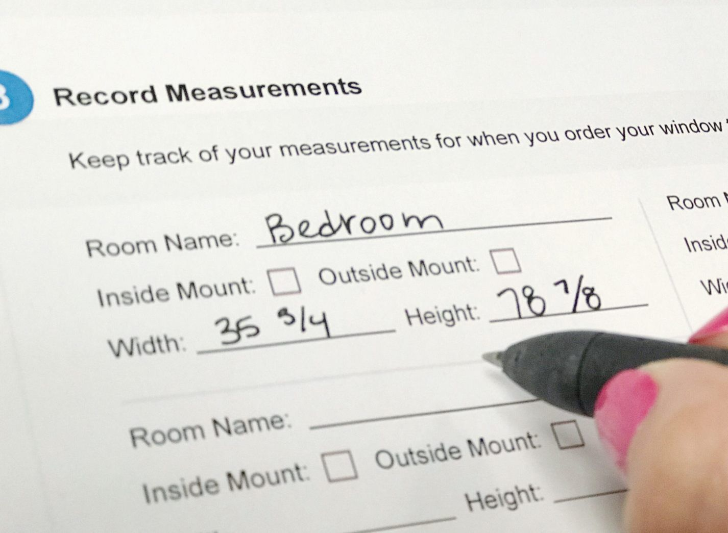 how to measure windows for blinds with measuring tape