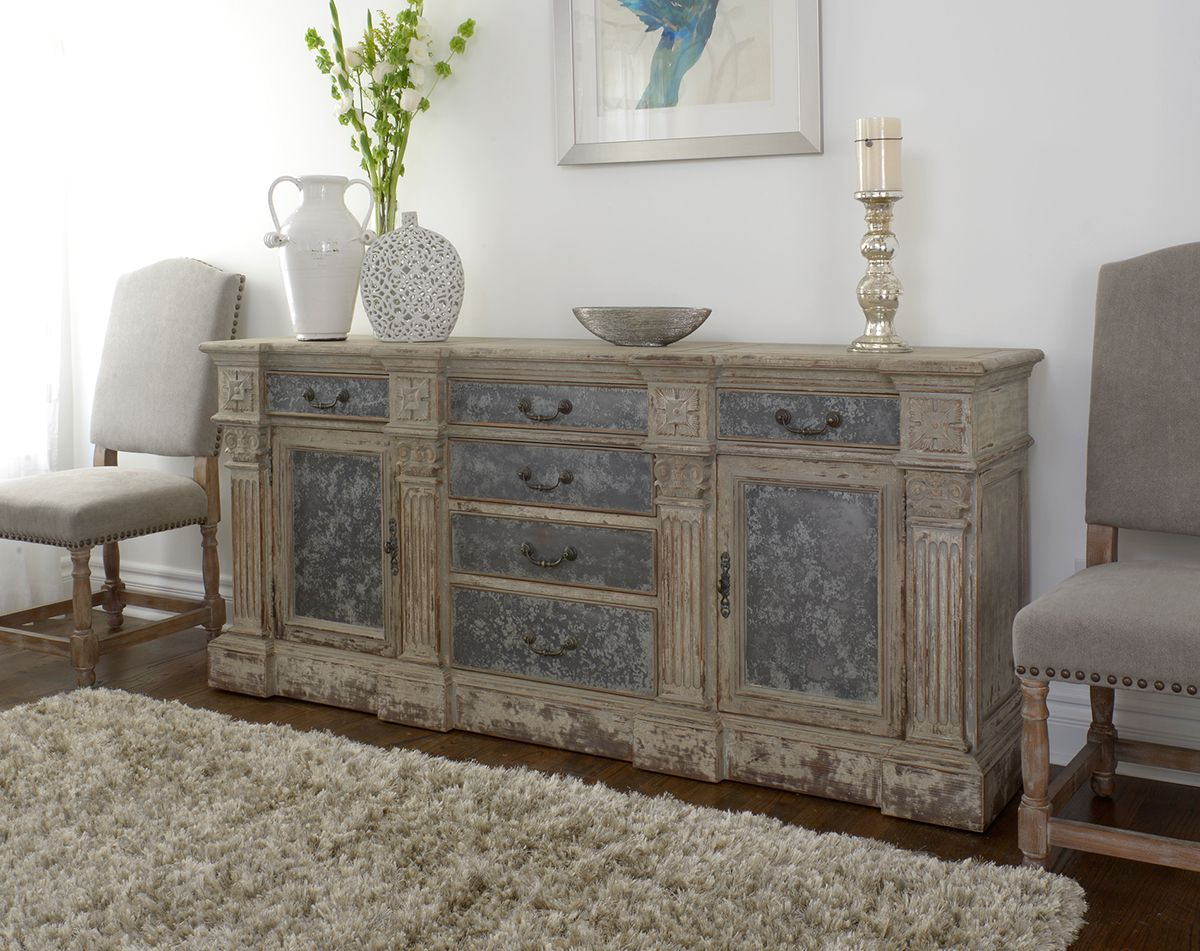 Rustic, Reclaimed And Relaxed Newmar Sideboard At Star Furniture In Texas.  Metal Panels. Neutral And Calming. Crafted Of Distressed Fir In A Rusticu2026