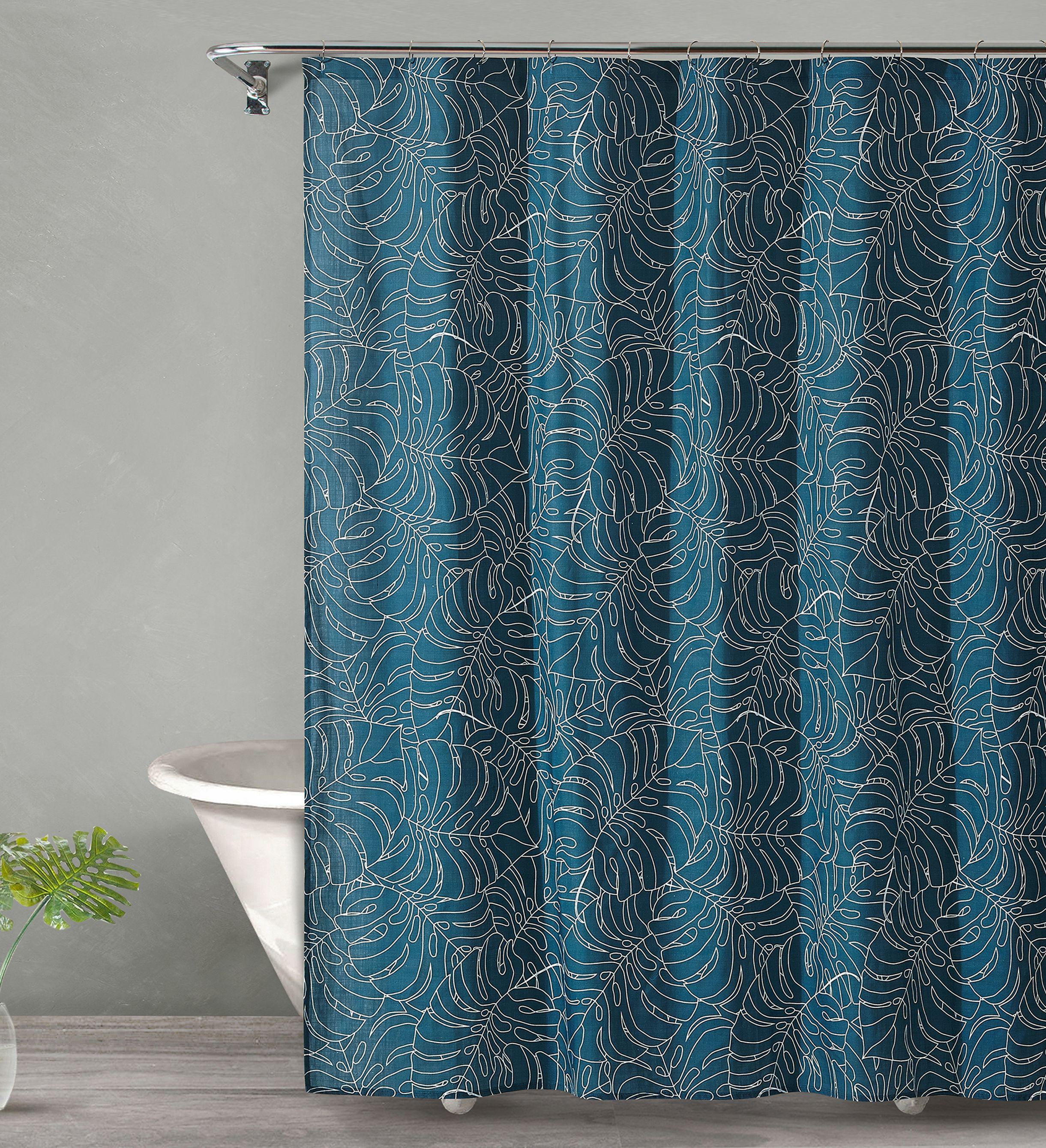 TROPICAL MIDNIGHT Shower Curtain 72x72