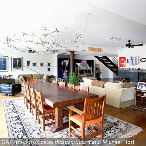 Bunter Stilmix klassische Möbel, Aufregen und Klassisch - wohnideen wohnzimmer holz