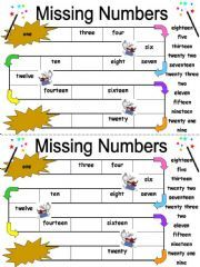 English powerpoint: Missing Numbers Worksheet with Numbers 1-20 ...