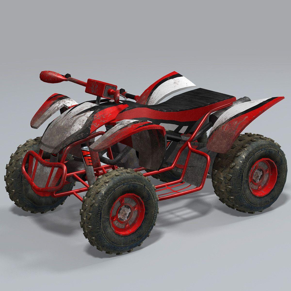 Max Realtime Quad Bike Atv 3d Model 3d Modeling Pinterest