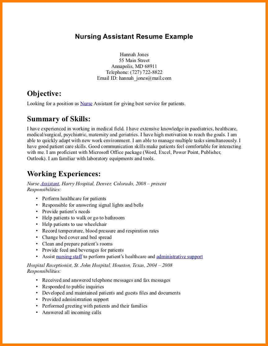 Mental Health Nursing Assistant Cover Letter Resume New Grad Nurse