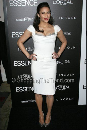 paula patton in marchesa essence luncheon    ♥ ♥ Please feel free to repin ♥♥ www.fashionandclothingblog.com