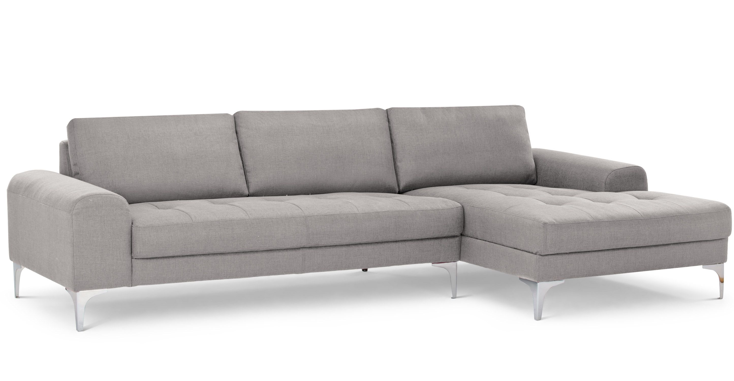Vittorio Right Hand Facing Chaise End Corner Sofa Pearl Grey Canape Angle Canape D Angle Cuir Canape Angle Droit