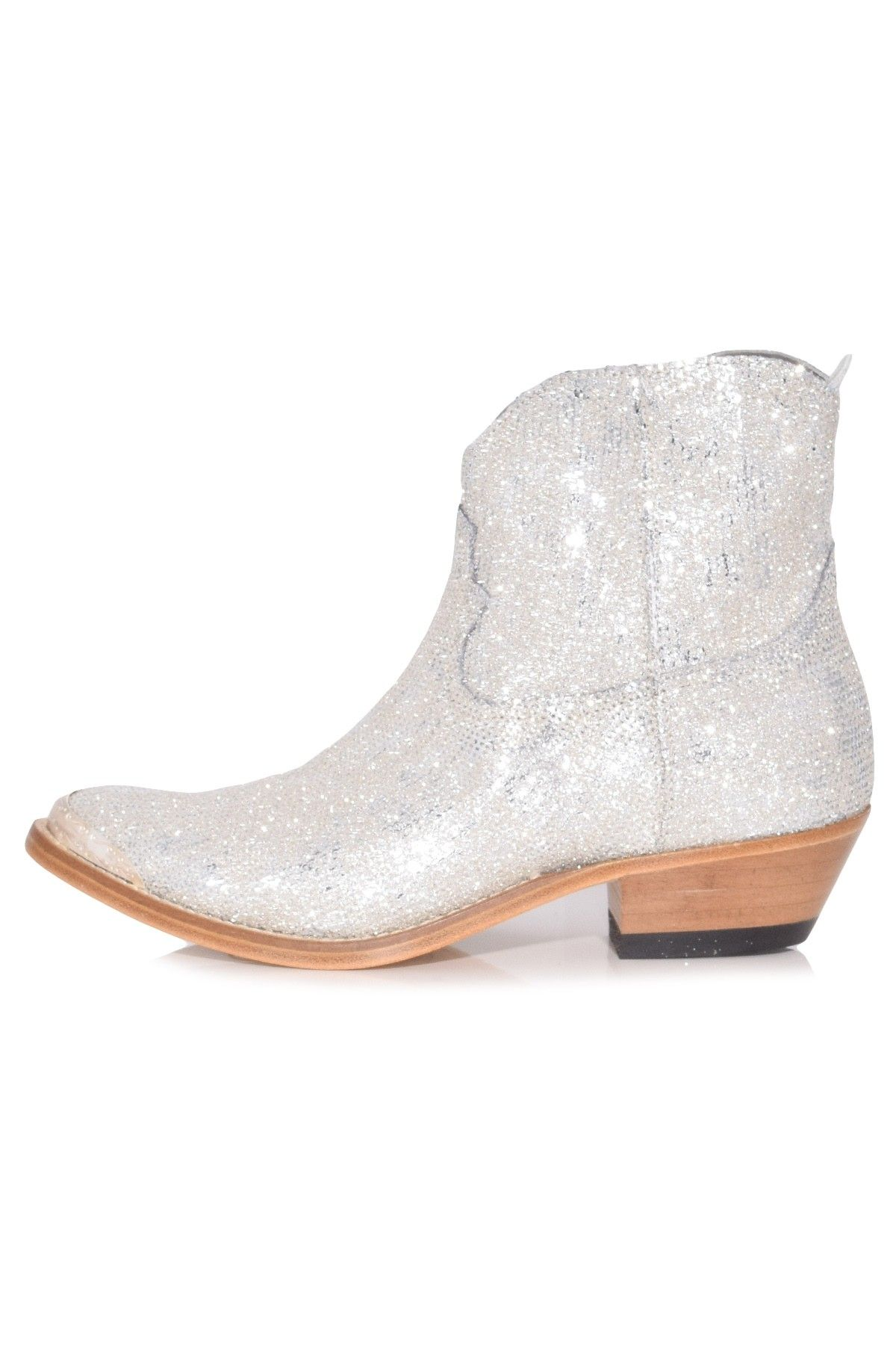 3e2992e6012 Young Boots in Silver Glitter Pailettes in 2019 | Hampden Shoes ...