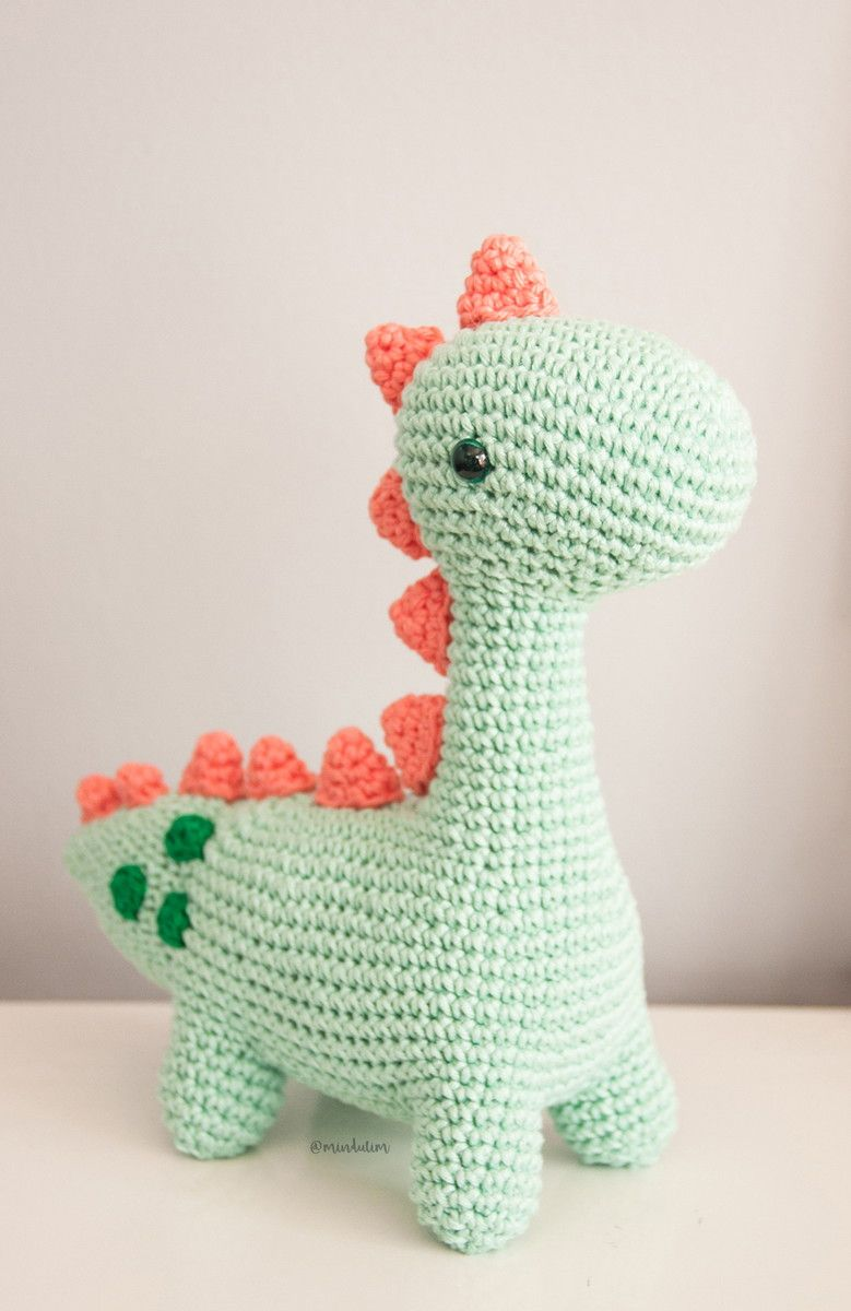 Amigurumi dinosaur crochet pattern - Amigurumi Today | 1200x779