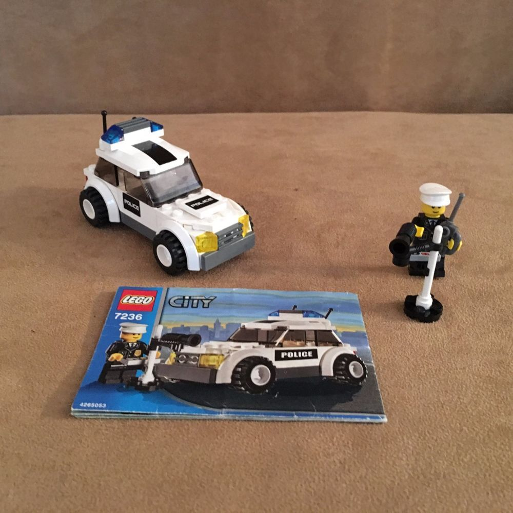 7236 Lego City Police Car Complete Instructions Black Stickers Speed Trap Town Lego Lego City Police Lego City Police Cars
