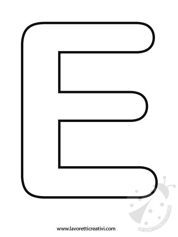 Lettera E Da Colorare Fotos Alfabeto Da Colorare Lettera E
