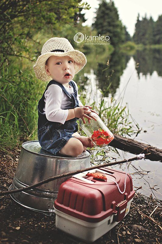 Fishing themed photo prop, so cute for lil boys