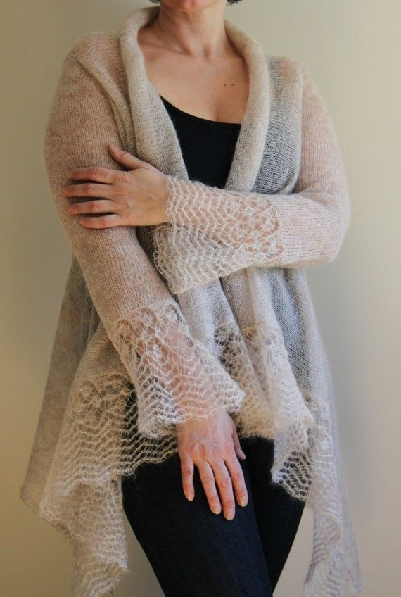 Special listing for Wendy sweater wrap in mohair and silk | Yarns ...