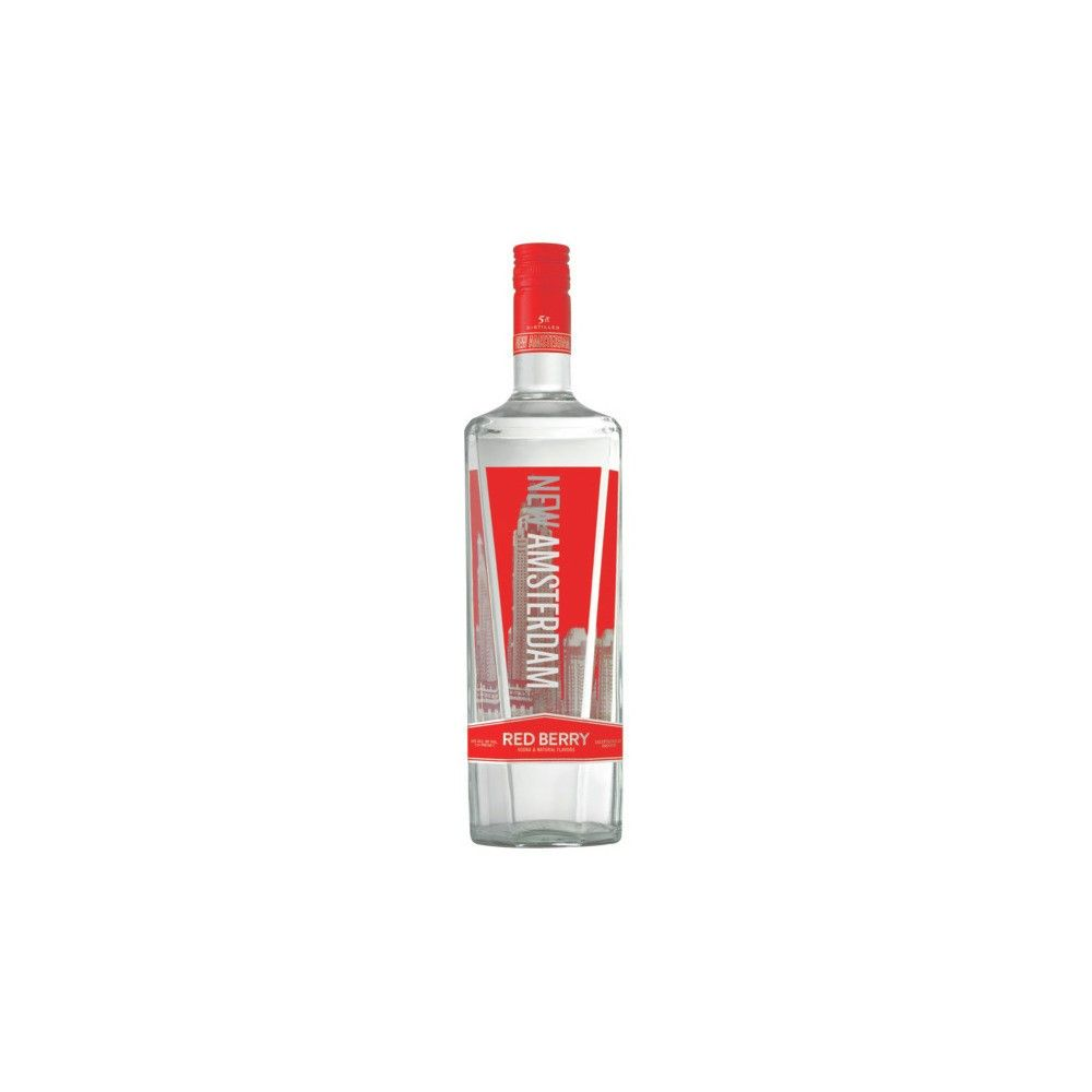 New Amsterdam Red Berry Flavored Vodka 1l Bottle Flavored