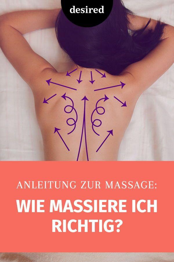Anleitung zur Massage: Wie massiere ich richtig?   desired.de