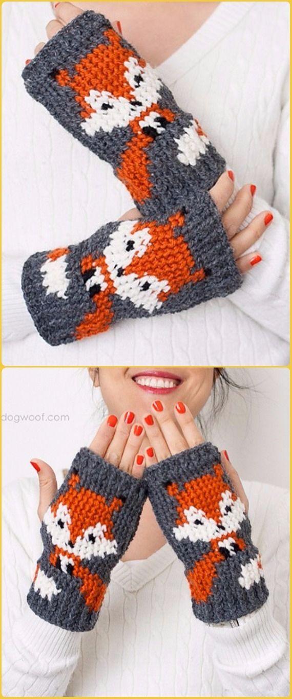 Crochet Foxy Fingerless Gloves Free Pattern Crochet Arm Warmer
