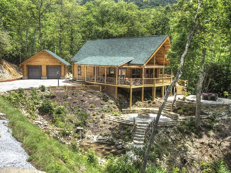 Secluded Log Cabin With Mountain View Near Bryson City NC