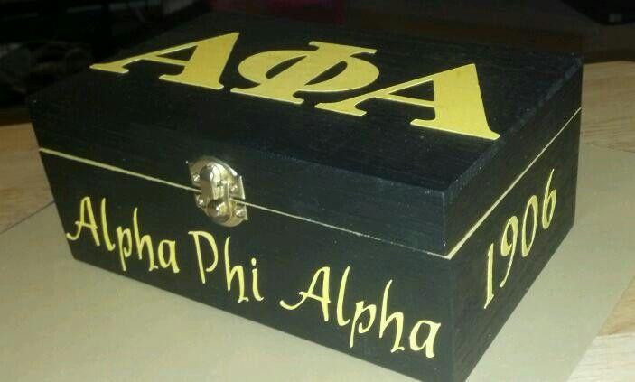 Theta Phi Alpha Wooden Keepsake Box