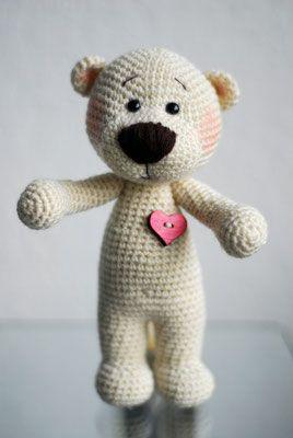 Jzamell Xxl Teddy Mit Herz Jzamell Teddys Co Teddy Häkeln