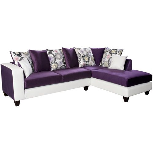 White And Purple Sectional Sofa