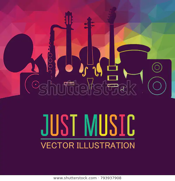 Colorful Music Background Music Instruments Music Stock Vector Royalty Free 793937908 Music Backgrounds Music Vector