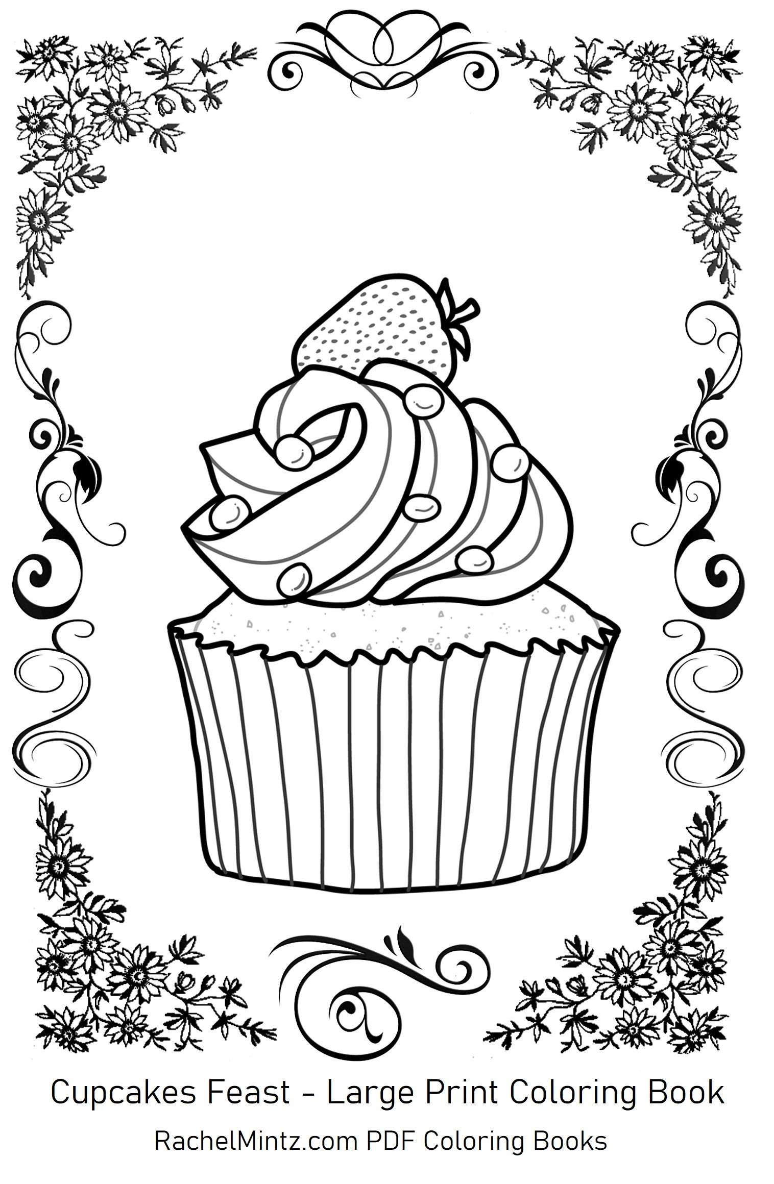 Large Print Desserts Coloring Book Coloring Books Large Prints Coloring Pages