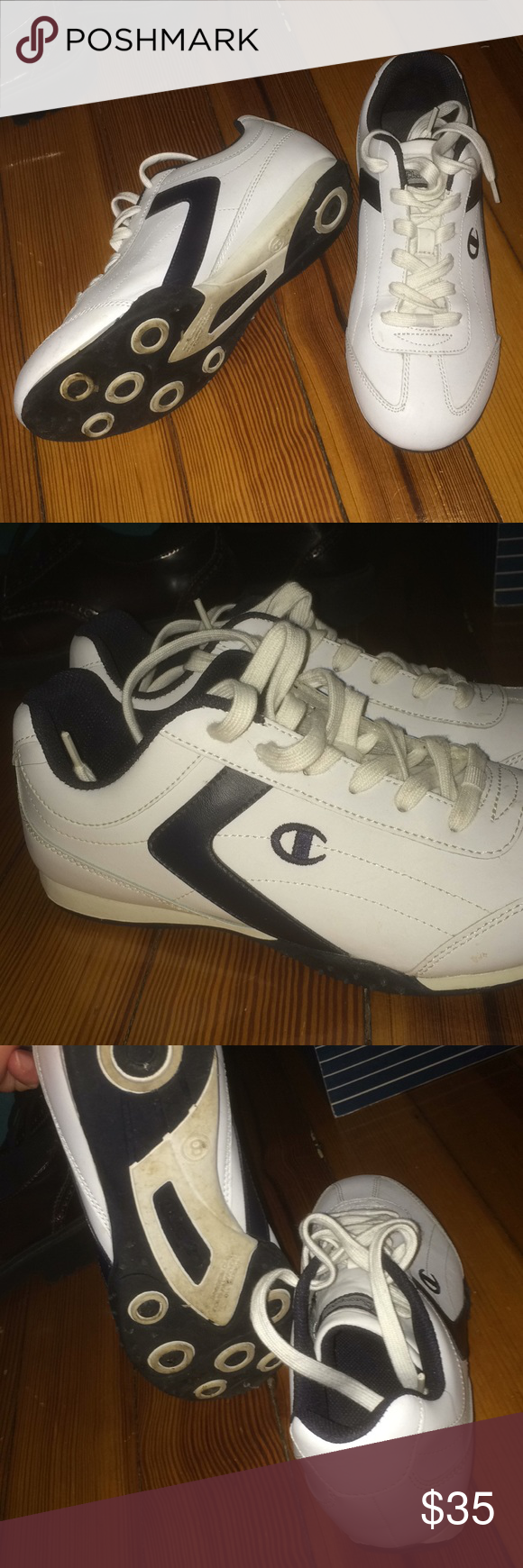a009de5ca9a Champions sneakers. Champions white sneakers. Size 8 worn twice perfect  condition. Champion Shoes Athletic Shoes