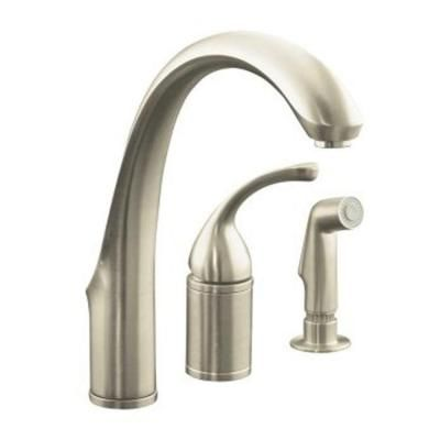 kitchen lever handle forte with control kohler sink single valve pin sidespray and remote faucet