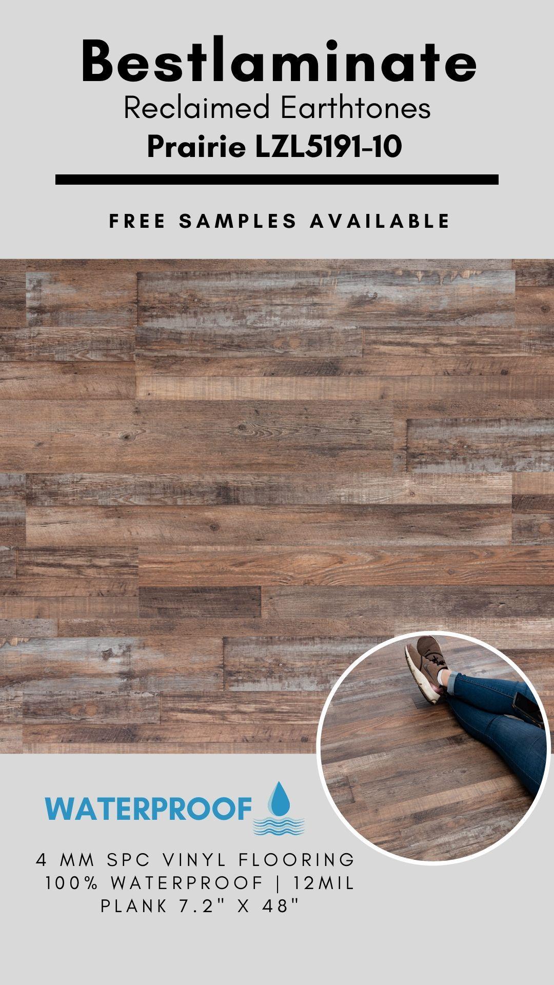 Bestlaminate Reclaimed Earthtones Prairie Lzl5191 10 Luxury Spc Vinyl Plank In 2020 Vinyl Plank Vinyl Flooring Earth Tones