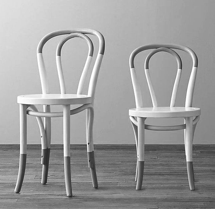 Two Tone Half Painted Optical Illusion Chairs Painted Chairs Childrens Chairs Painted Furniture