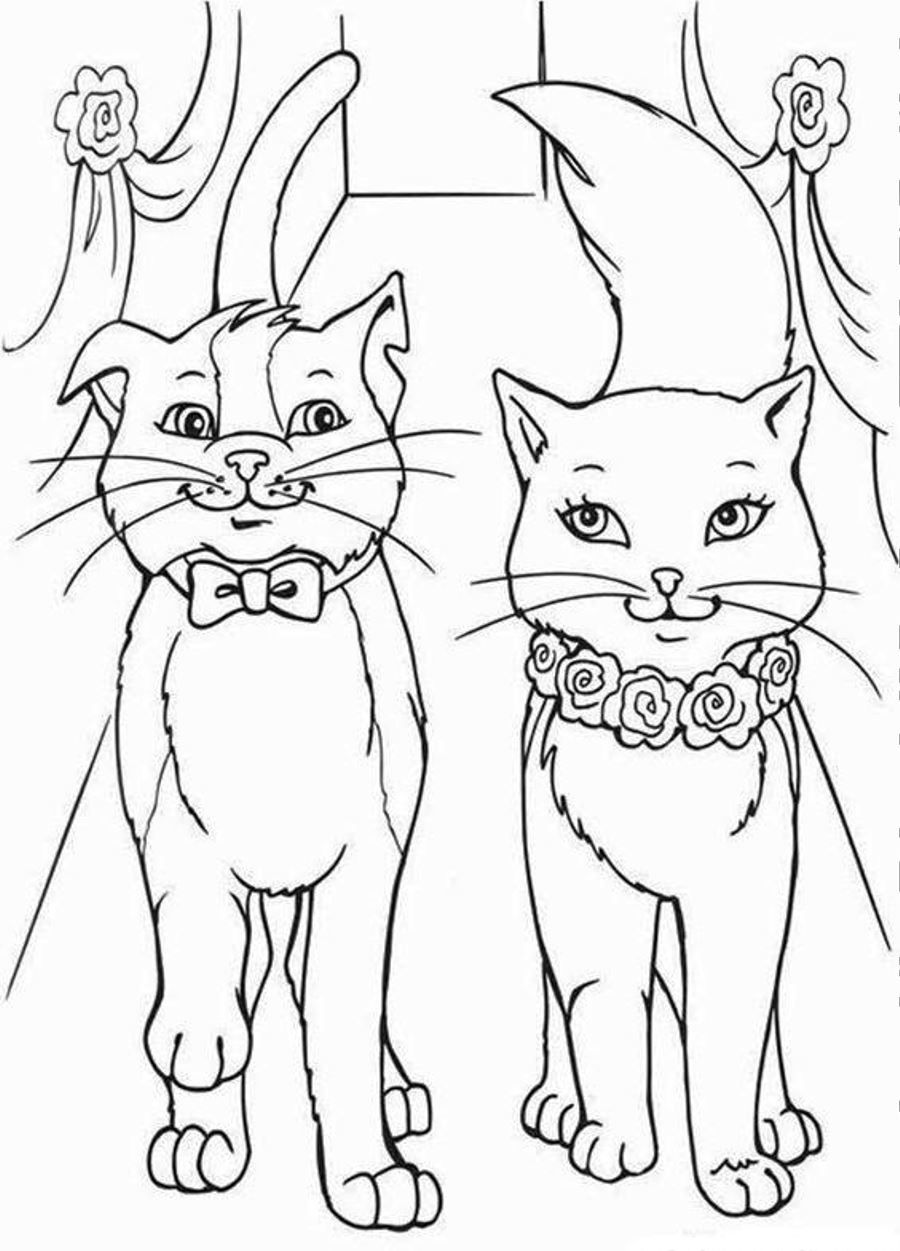 Barbie Cat Wedding Coloring Page Coloringplus Com Cat Coloring Page Wedding Coloring Pages Barbie Coloring Pages