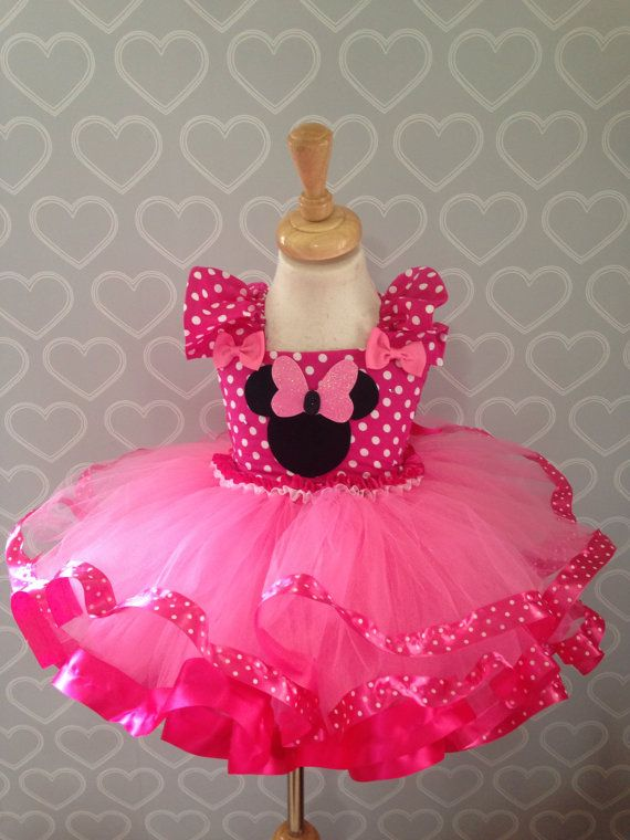 Minnie Mouse tutu vestido/minnie mouse por Tutucutebowtique16 ...