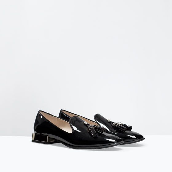 Image 4 of PATENT SLIP-ON SHOES from Zara