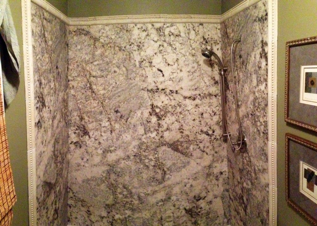 cultured marble shower walls 37130 | Tyvarian Oyster Shower ...