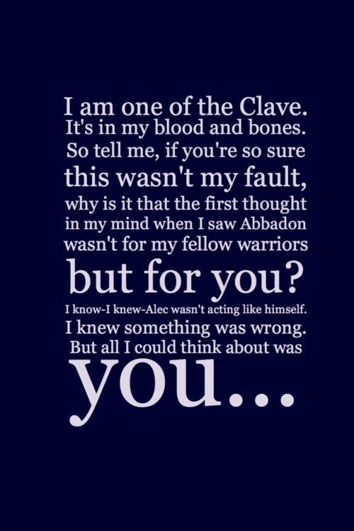 The Mortal Instruments Quote Aww Favorite Quote Of Jace To