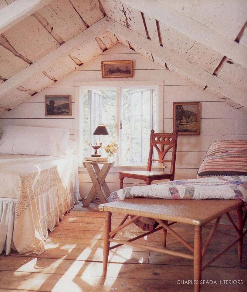 Pin By Lindsay Dickson On Decorating I Love Attic Bedrooms Home Attic Rooms