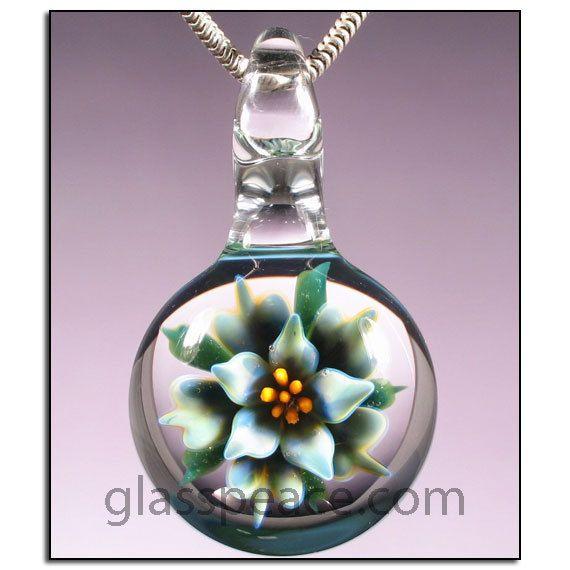 Lampwork pendant glass flower necklace focal bead glass peace lampwork pendant glass flower necklace focal bead glass peace glass jewelry 3184 aloadofball Gallery