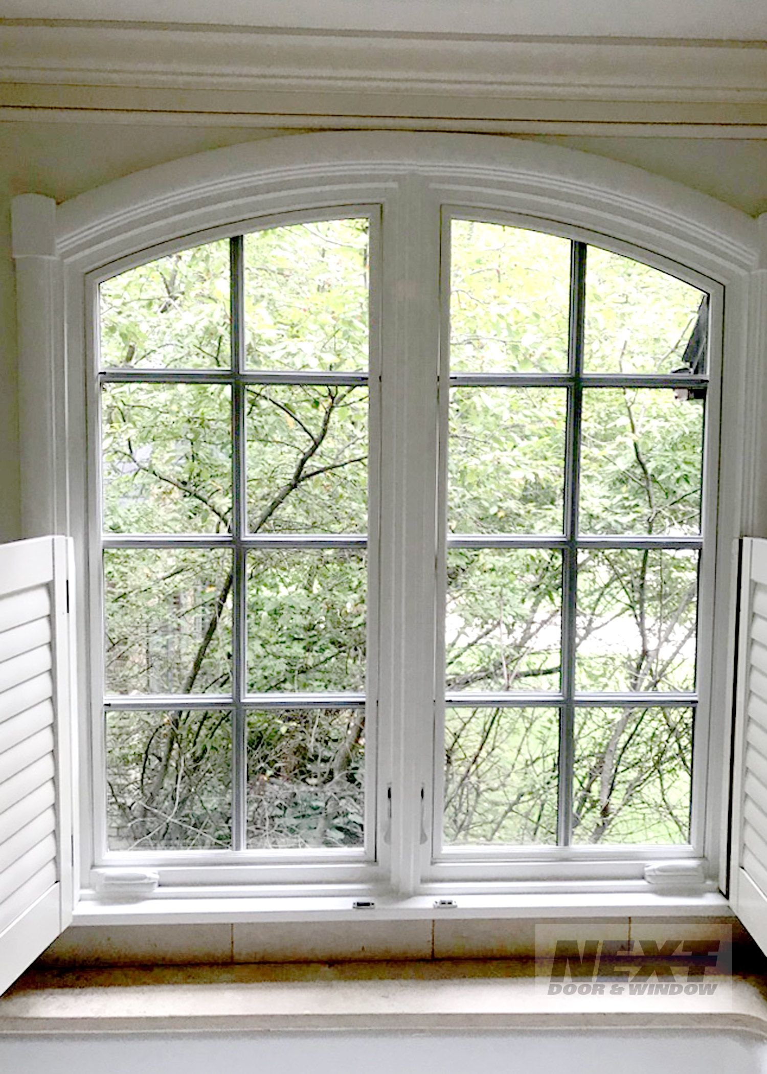 We Can Help You With Special Shaped Windows Featured Is A Marvin Window Installed In Hinsdale Installing Exterior Door Door Installation Window Installation